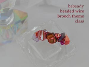 bebeady beaded wire brooch