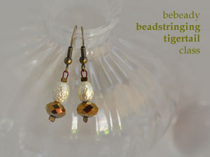 bebeady beadstringing with tigertail thread