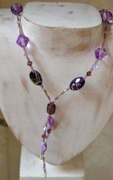 Andrea's beaded necklace