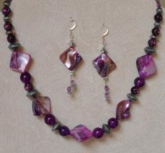 Norma's beaded necklace and earrings