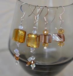 Sandra's beaded earrings