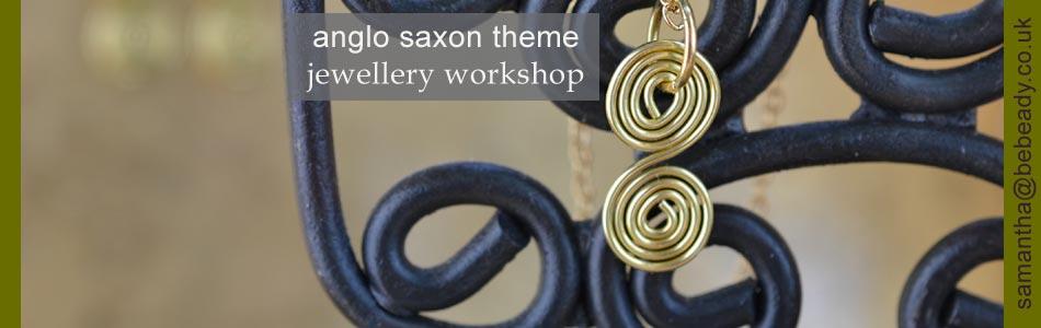 anglo saxon theme jewellery making workshops