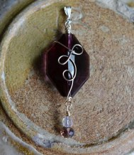 Jess's wrapped pendant