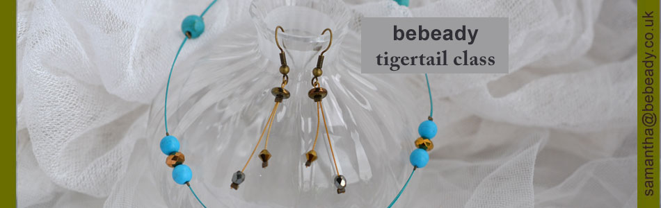 beadstringing with tigertail thread variation class