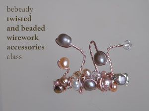 bebeady twisted and wrapped wire brooch